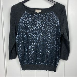 Loft small sequin sweater